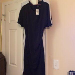Plus size Black and white dress
